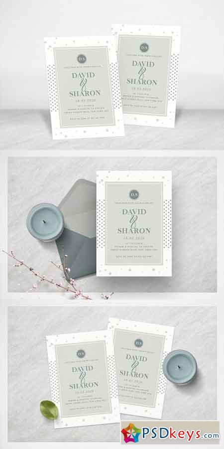 Dot Minimal Wedding Invitation 2442075