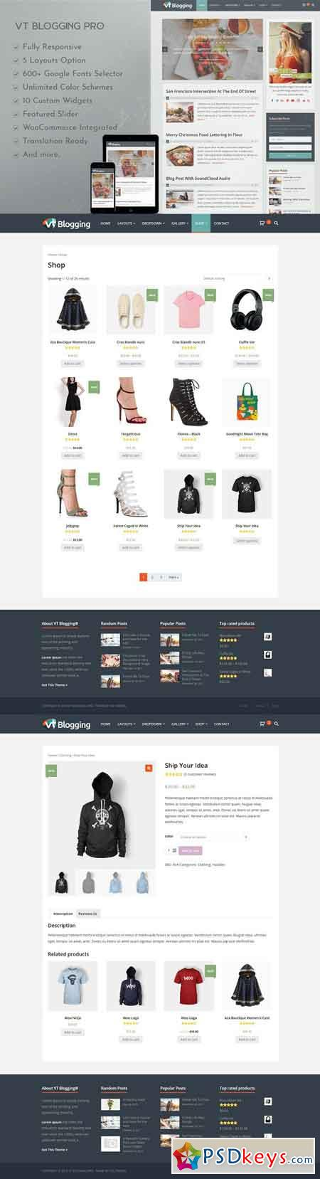 VT Blogging Pro WordPress Theme 2556004
