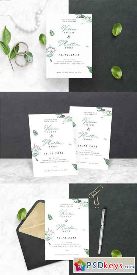 Leaf Wedding Invitation 2442114