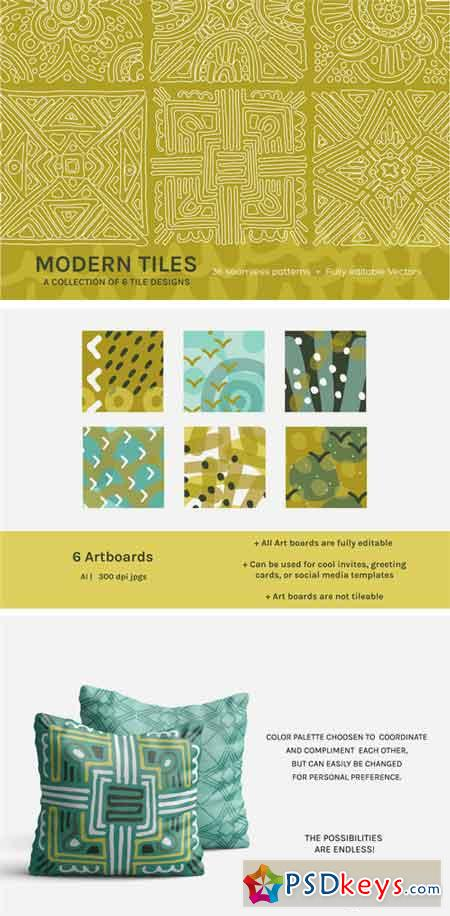 Full Modern Tile Seamless Patterns 2393910