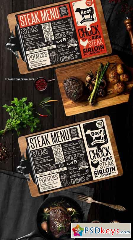 Steak Food Menu Template 2371434