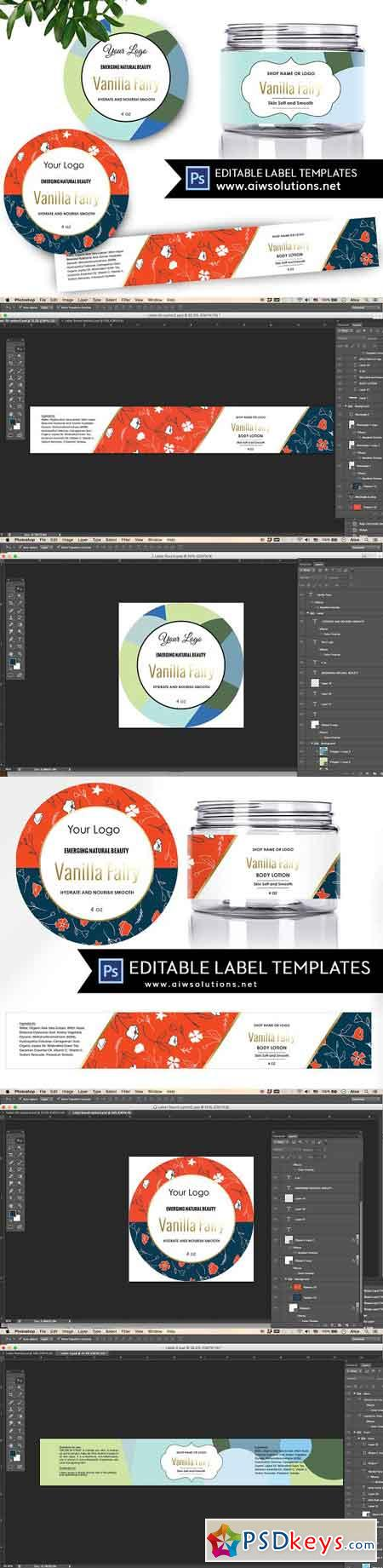 Skincare Label Template ID50 2473906