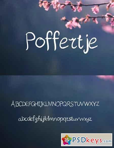 Poffertje Handwritten Script Font 2140136
