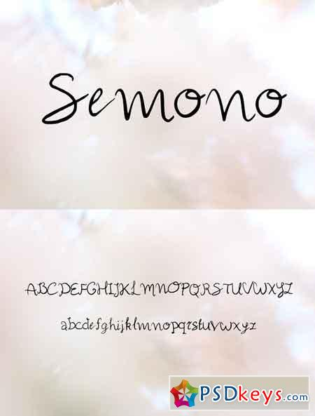 Semono Handwritten Script Font 2138312