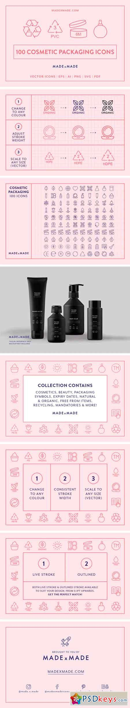 Line Icons – Cosmetic Packaging 2482389