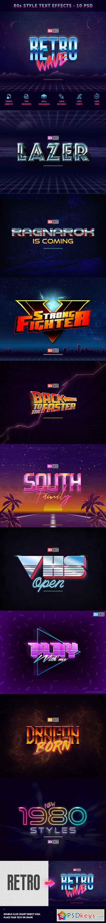 80s Text Effects - 10 PSD 21905525