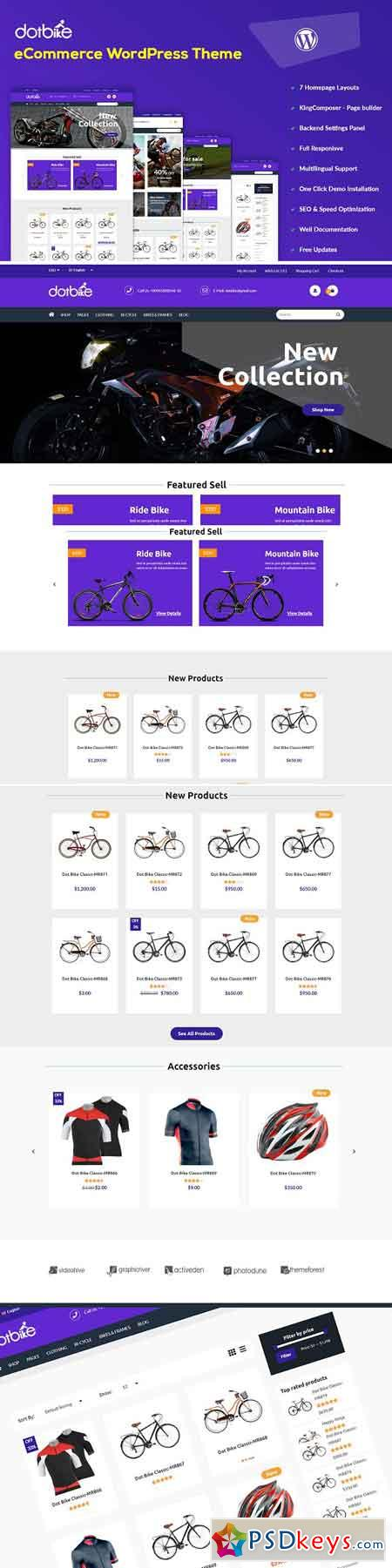 DotBike - eCommerce WordPress Theme 2547788
