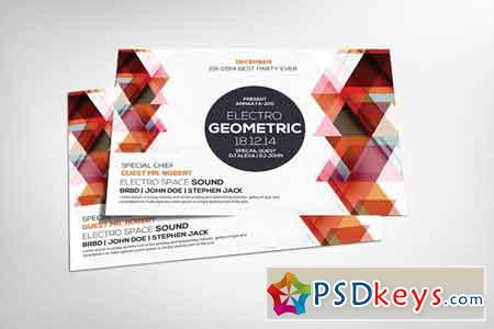 Geometric Sounds Flyer Template 2533780