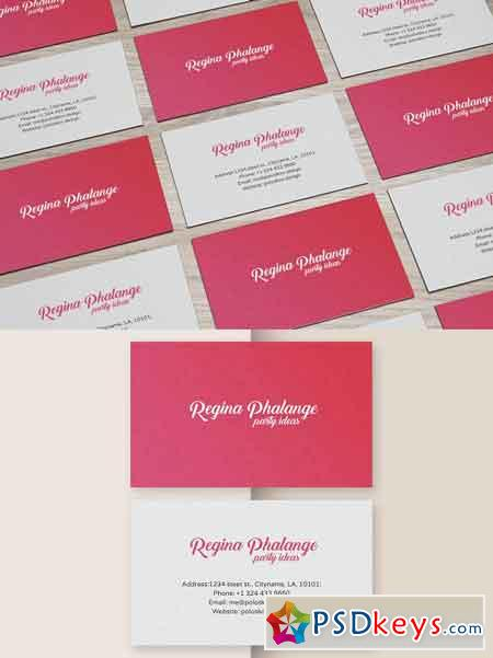Party Business Card (Red) 2534414