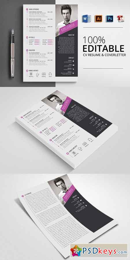 Word Format CV Resume Template 2506978