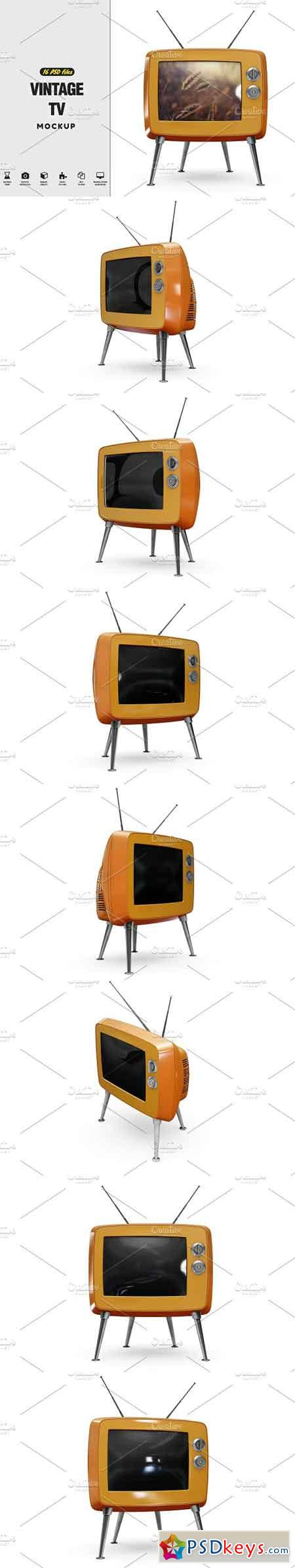 Vintage Tv Mockup 2555616