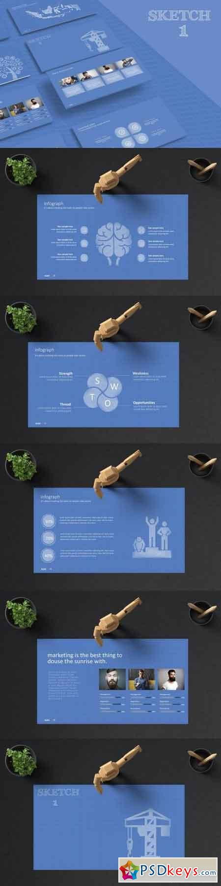 SKETCH 1 Powerpoint Template