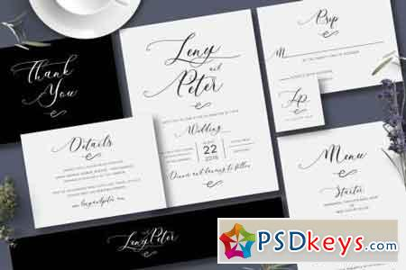 Simple Black & White Invitation