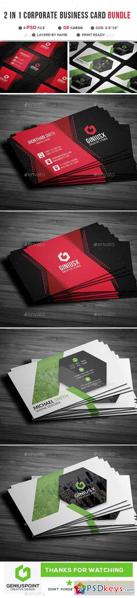 2 in 1 Corporate Business Card 21903590