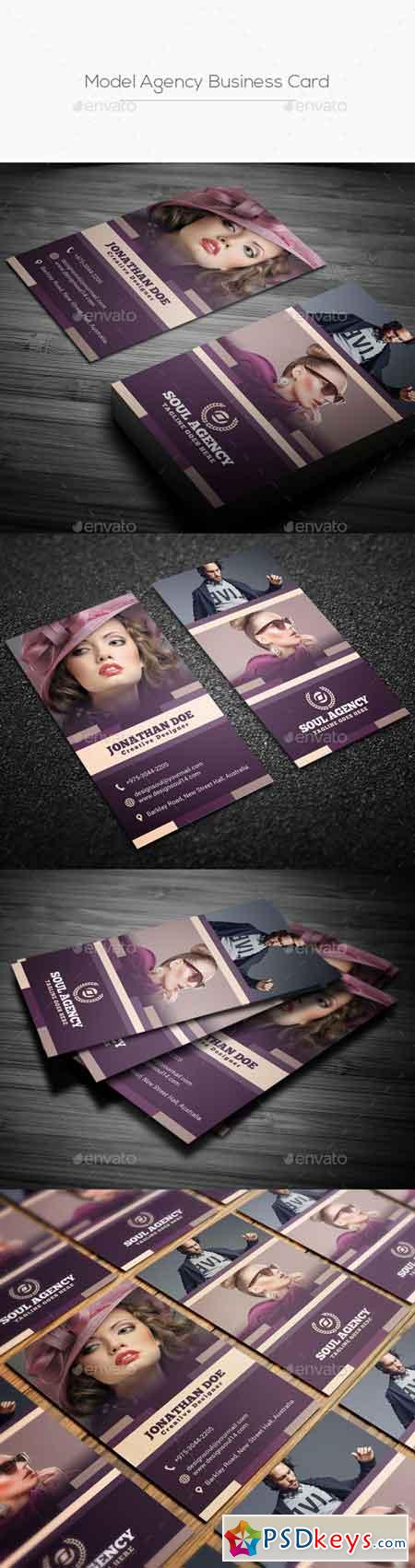 Model Agency Business Card 21895014