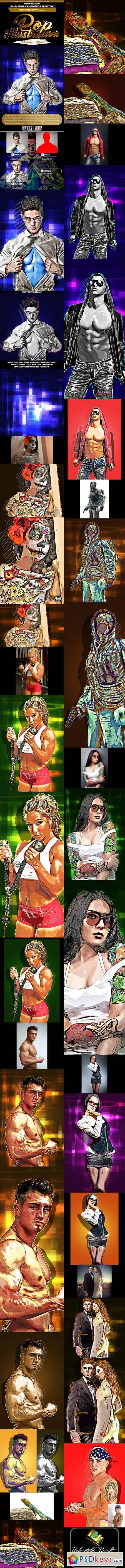 Pop Illustration Photoshop Artwork 21894738