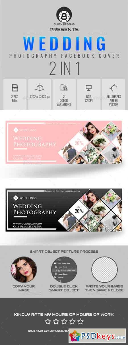 Wedding Photography Facebook Timeline Cover ( 2 in 1 ) 21914214