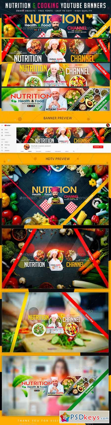Nutrition & Cooking YouTube Banner 21925512