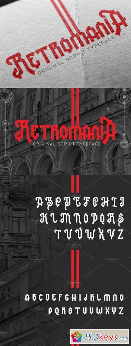Retromania font 2555815