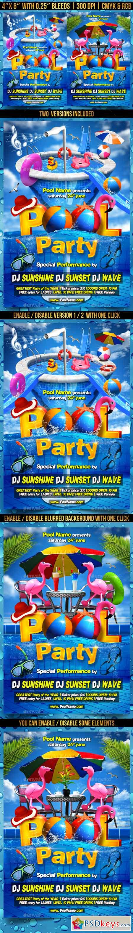 Pool Party Flyer Template 21956503