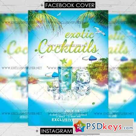 Exotic Cocktails – Premium A5 Flyer Template