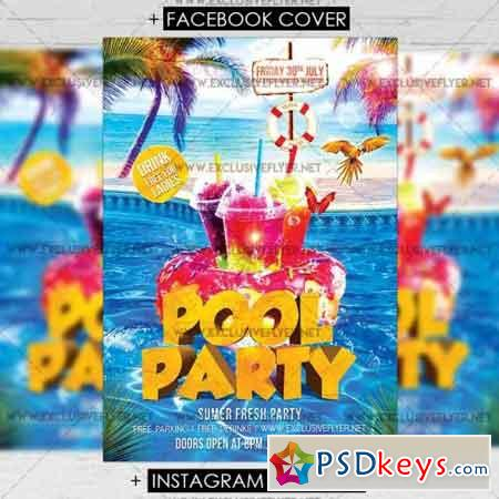 Pool Party – Premium A5 Flyer Template