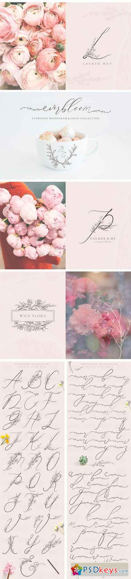 Flowered Monogram & Logo Collection 2480124