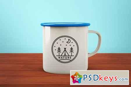 Enamel Metal Mug Mock-Up