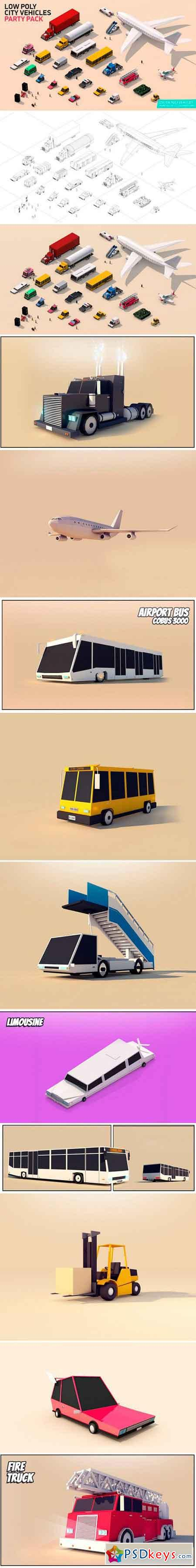 Low Poly City Cars Vehicles Pack 1550794