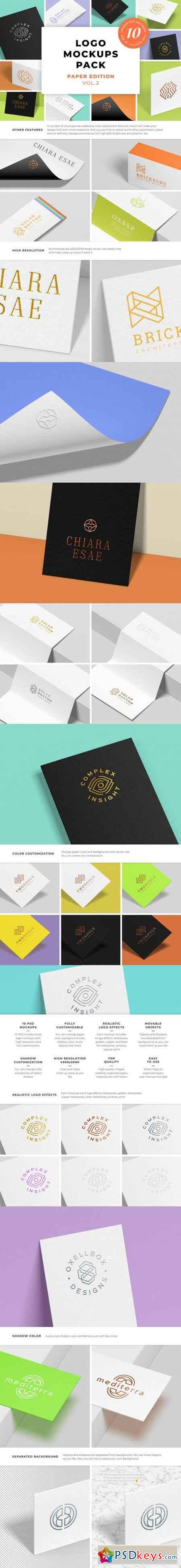 Logo Mockups Pack Paper Edition Vol.2