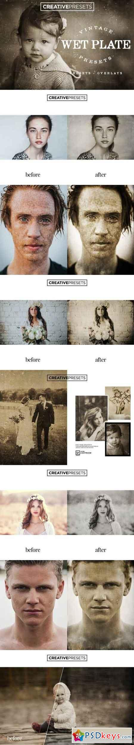 Wet Plate Lightroom Presets + Overlays