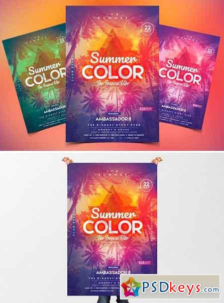 Summer - PSD Flyer & Invitation 2487928
