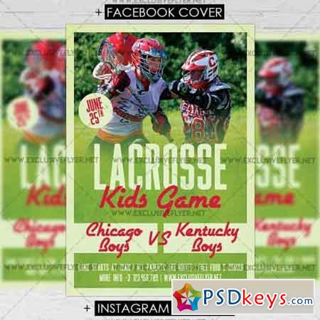 Lacrosse Game – Premium A5 Flyer Template