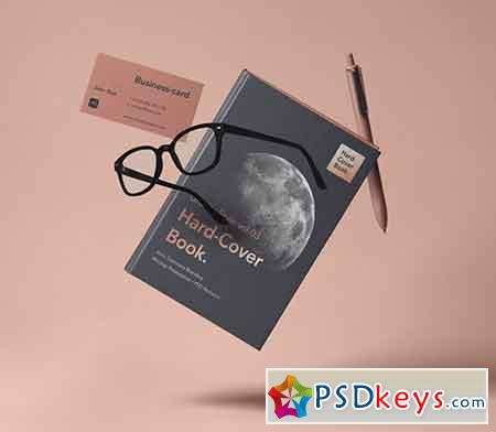 Gravity Psd Book Mockup Hardcover 3