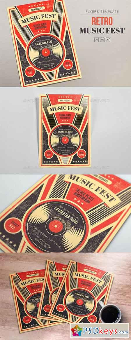 Retro Music Fest - Vinyl Flyers 21975357