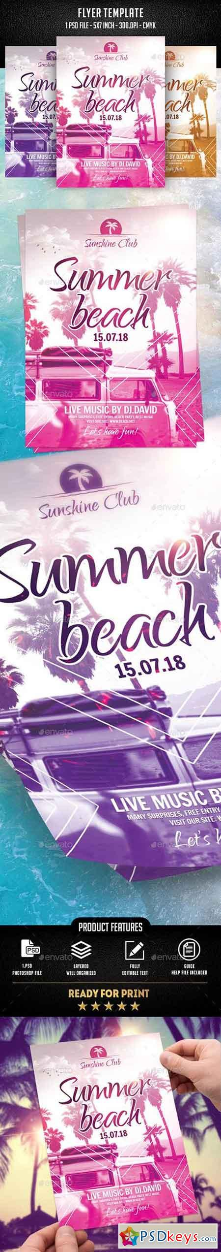 Summer Beach Flyer Template 21964666