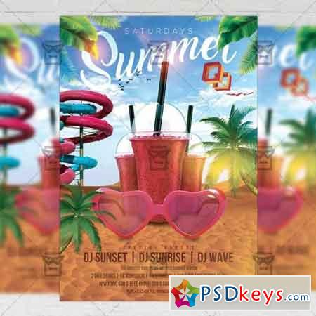 Summer Saturdays Flyer – Seasonal A5 Template