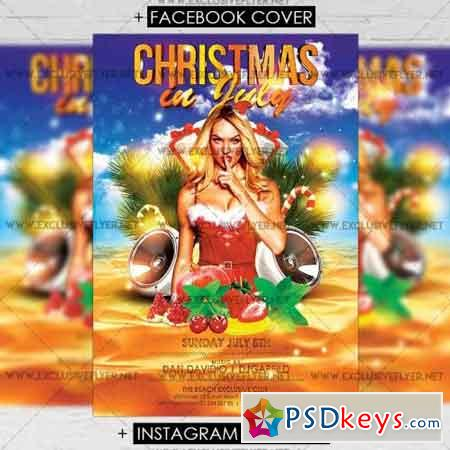Christmas in July – Premium A5 Flyer Template