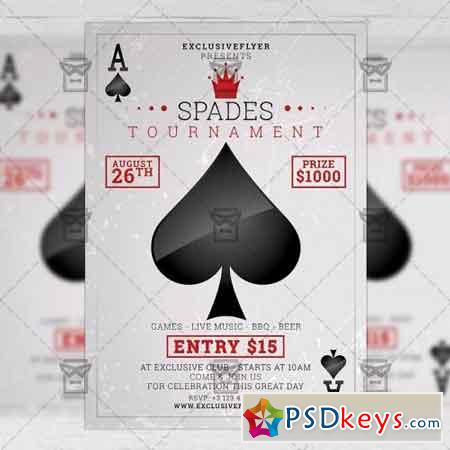 Spades Tournament – Community A5 Flyer Template