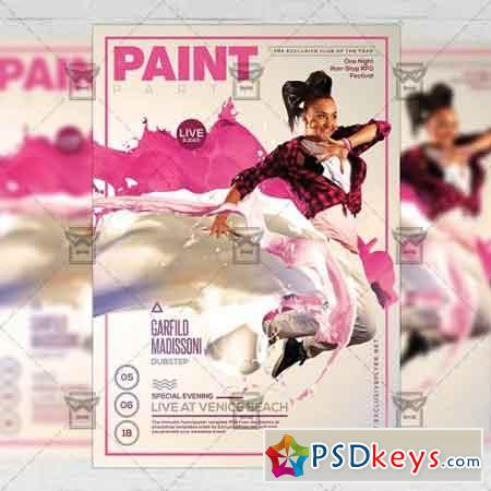 Paint Party Flyer – Club A5 Template
