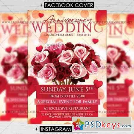 Wedding Anniversary – Premium A5 Flyer Template