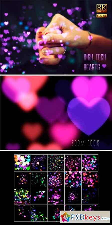 8K High-Tech Hearts Overlays 2487569