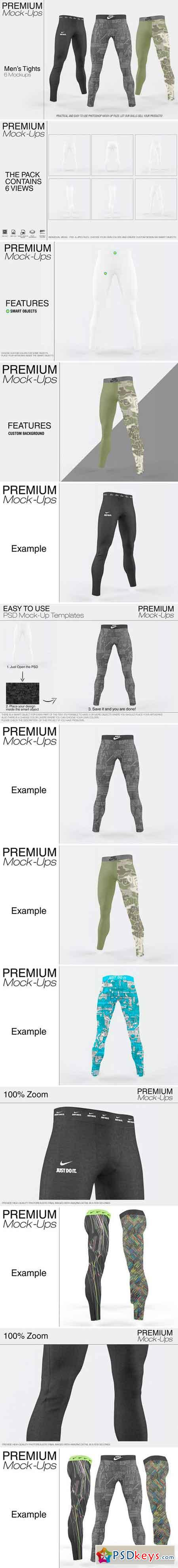 Men's Tights Mockup 2382241