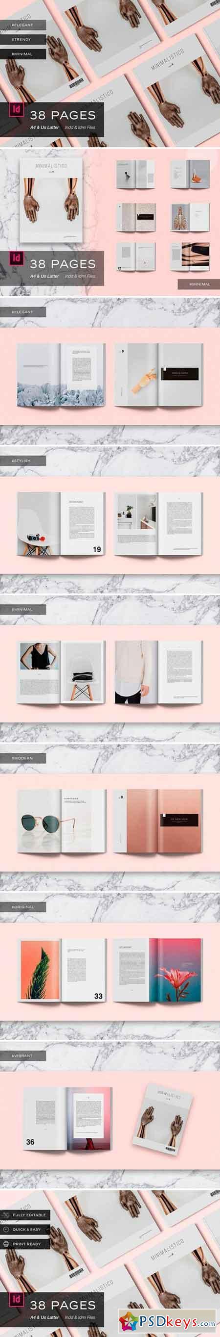 Magazine Template - Minimalistico 2487255