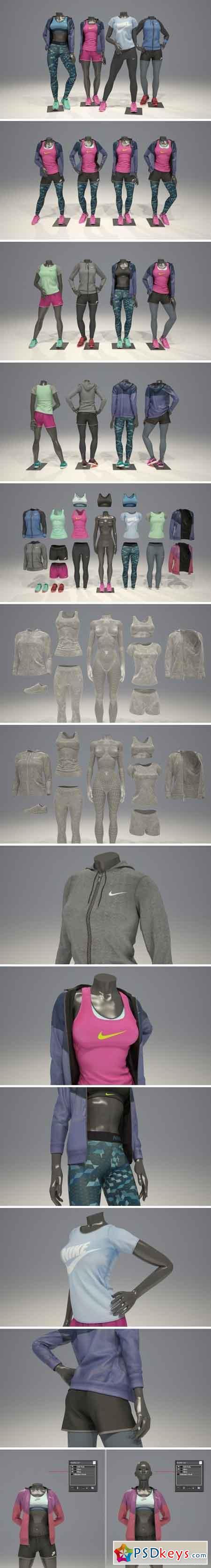 Female mannequin Nike pack 2 2126478
