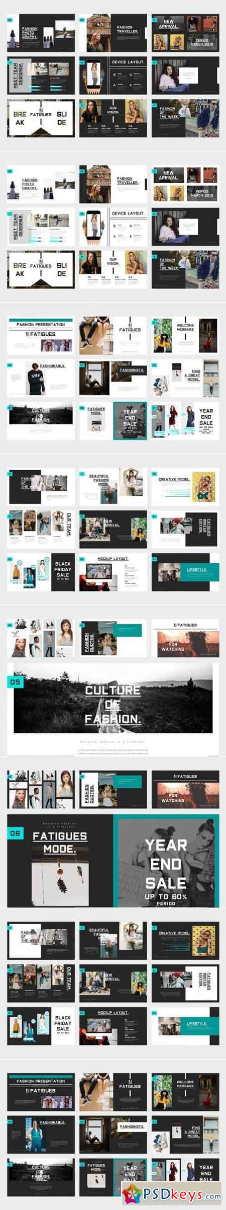 Fatigues Fashion Lookbook Keynote Template