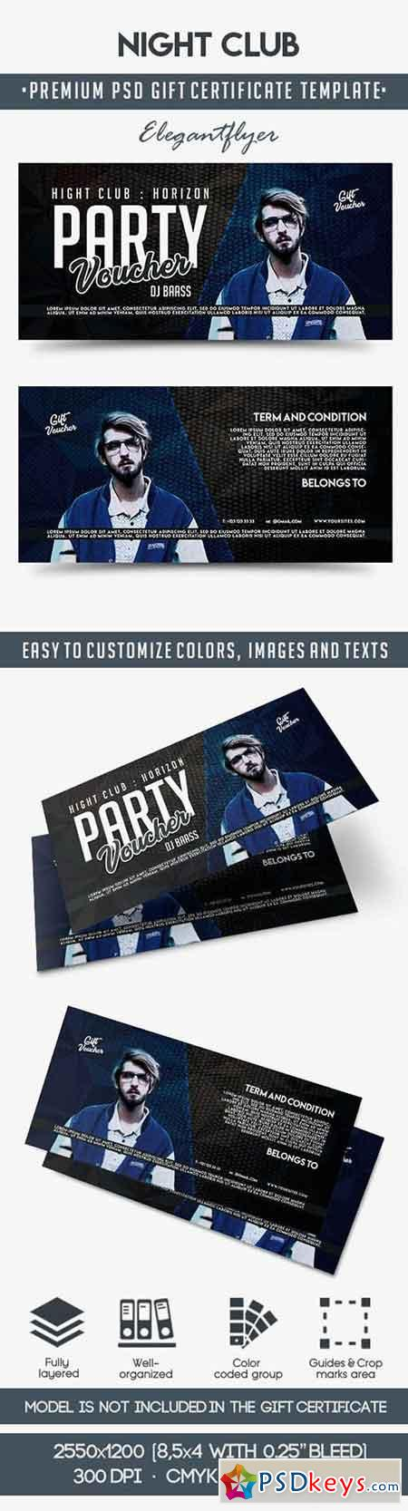 Night Club Gift Voucher Template