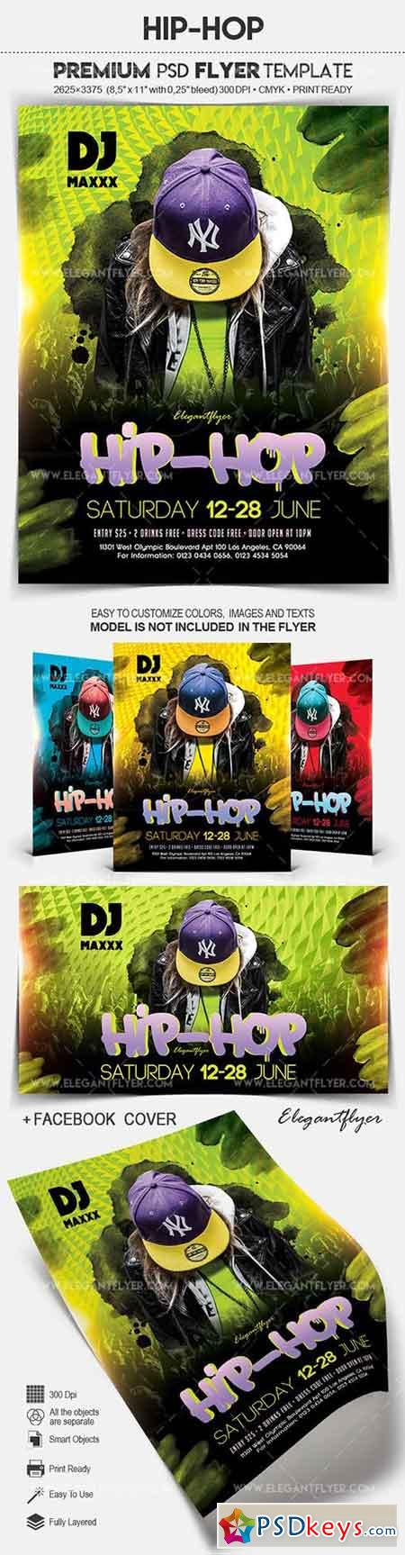Hip-Hop – Flyer PSD Template