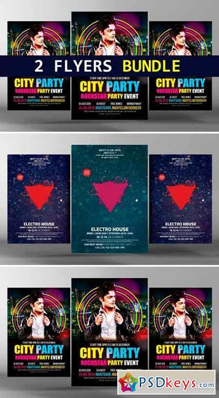 Party Flyer Electro Bundle 2 in 1 2486719