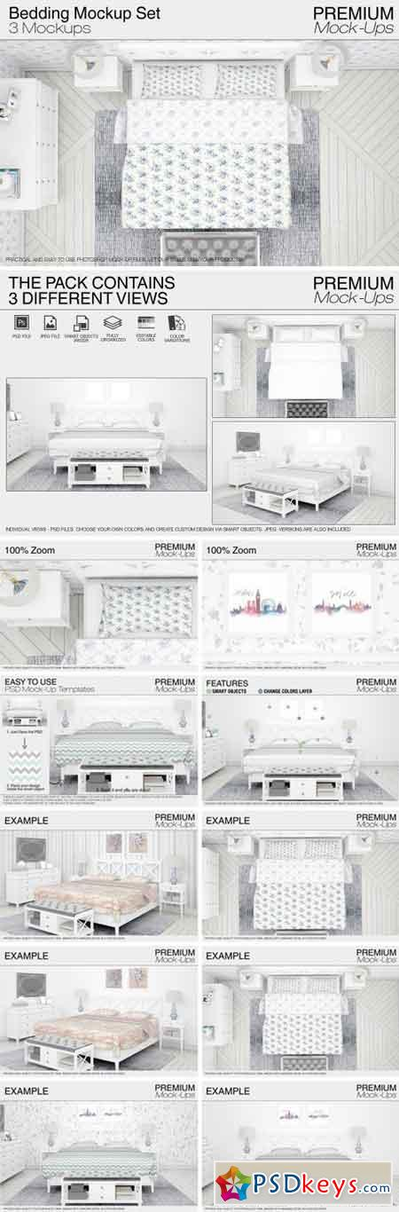 Bedding Mockup Set 2095842